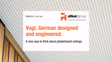 Vogl. German designed and engineered plaster board acoustic solutions.
